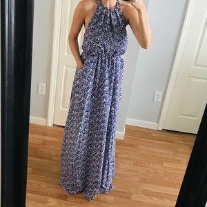 Jessica Simpson Halter Maxi Floral Dress